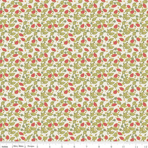 Floral Hues Cream Floral leaves
