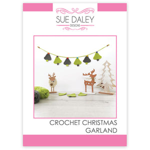 Crochet Christmas Garland Printed Pattern