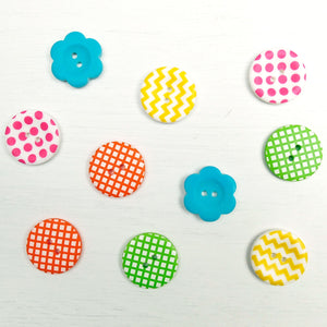 Mixed Button 10 pack