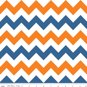Blue/Orange Medium Chevron 1m