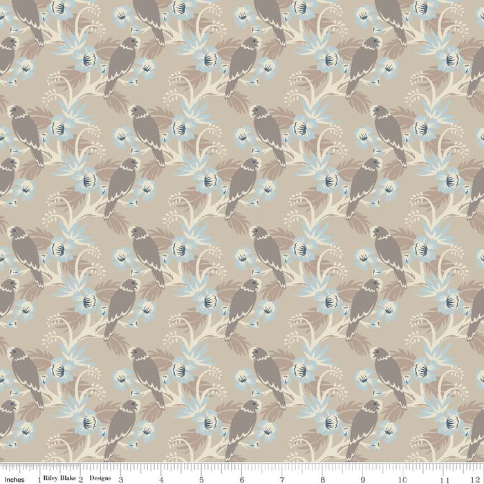 Forget Me Not Birds Tan