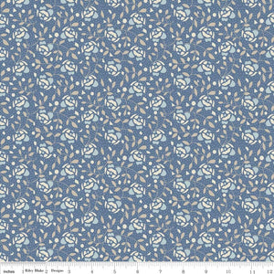 Forget Me Not Floral Navy