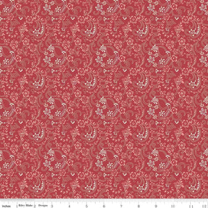 C5112 Beaujolais Floral Red