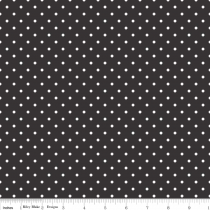 Swiss Dots White Dot on Black