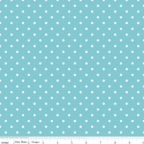 Swiss Dots White Dot on Aqua