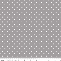 Swiss Dots White Dot on Gray