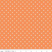 Swiss Dots White Dot on Orange