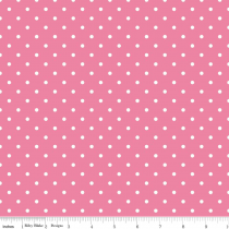 Swiss Dots White Dot on Hot Pink