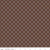Swiss Dots White Dot on Brown