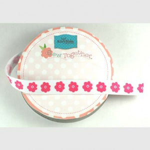 "5/8"" Flower Grosgrain Ribbon - Various Colours"