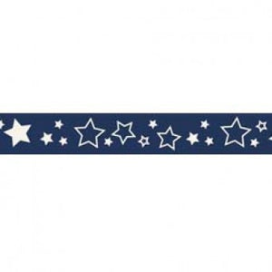 "3/8"" Stars Grosgrain Ribbon - Various Colours"
