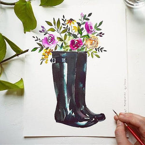 Rain Boots Watercolour Kit