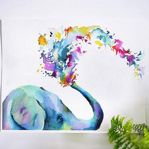 Rainbow Elephant Watercolour Kit