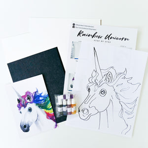 Rainbow Unicorn Watercolour Kit