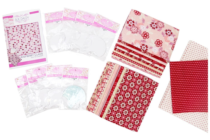 Raspberry Clams Quilt Fabric Kit