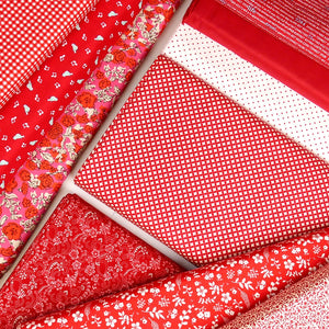 Red 25cm Fabric Pack
