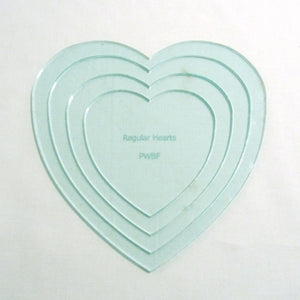 Applique Regular Hearts - Set of 4