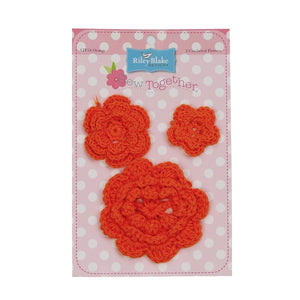Sew Together Crochet Flowers - Orange