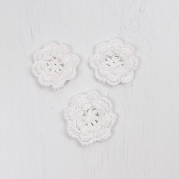 Sew Together Crochet Flowers - White