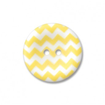 "1"" Chevron Round Button Yellow"