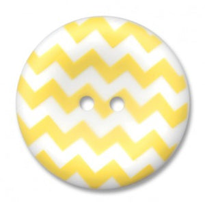 "1.5"" Chevron Round Button Yellow"