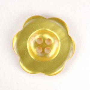 "1.5"" Pearl Flower Button Yellow"