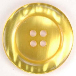 "2"" Pearl Round Button Yellow"