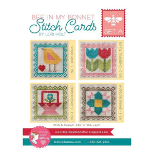 Lori Holt Cross Stitch Cards Set A