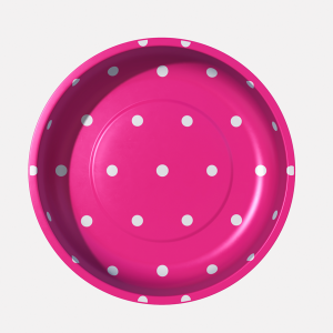Magnetic pin bowl hot pink dot