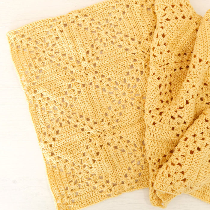 Crochet Lattice Blanket Printed Pattern