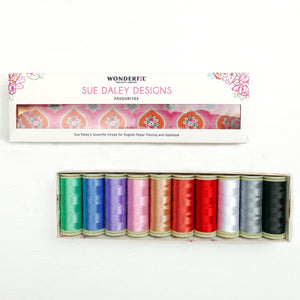 Sue Daley Wonderfil Thread Pack Favourites