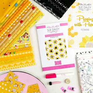 SUNFLOWER EPP FABRIC AND PATTERN PACK