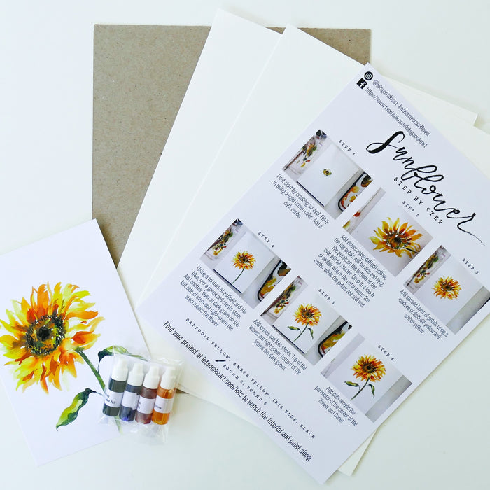 Sunflower Watercolour Kit