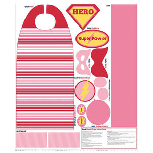 Super Hero Cape Pink Panel