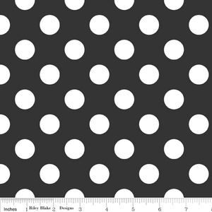 "Black Medium Dot 108"" Wideback"