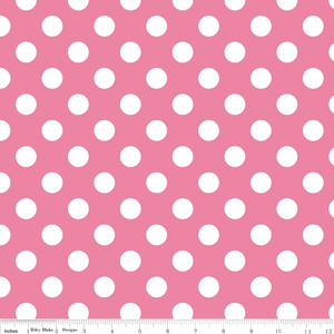 "Hot Pink Medium Dot 108"" Wideback"
