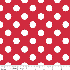 "Red Medium Dot 108"" Wideback"
