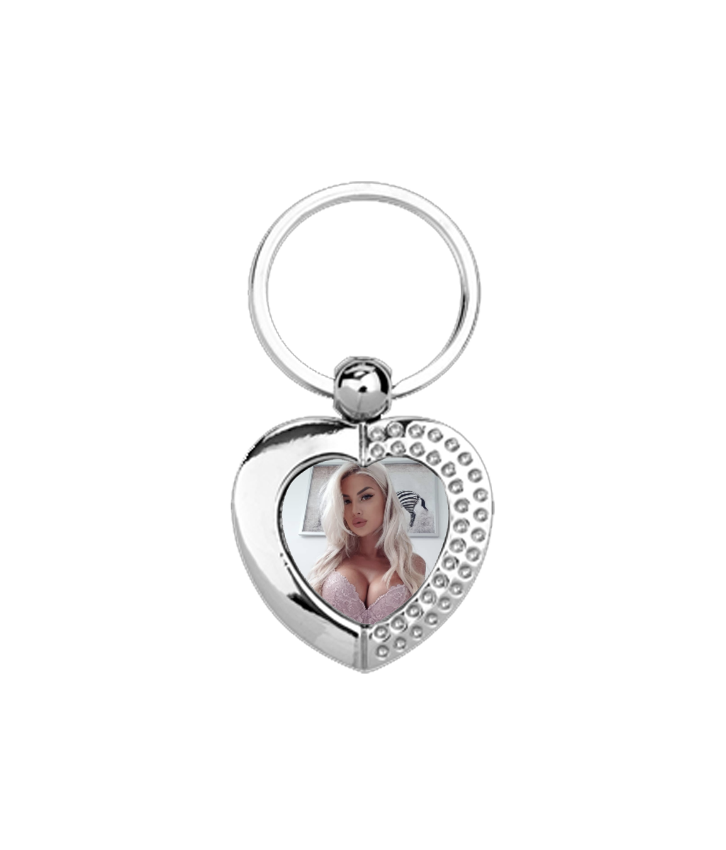 Heart Metal Keyring