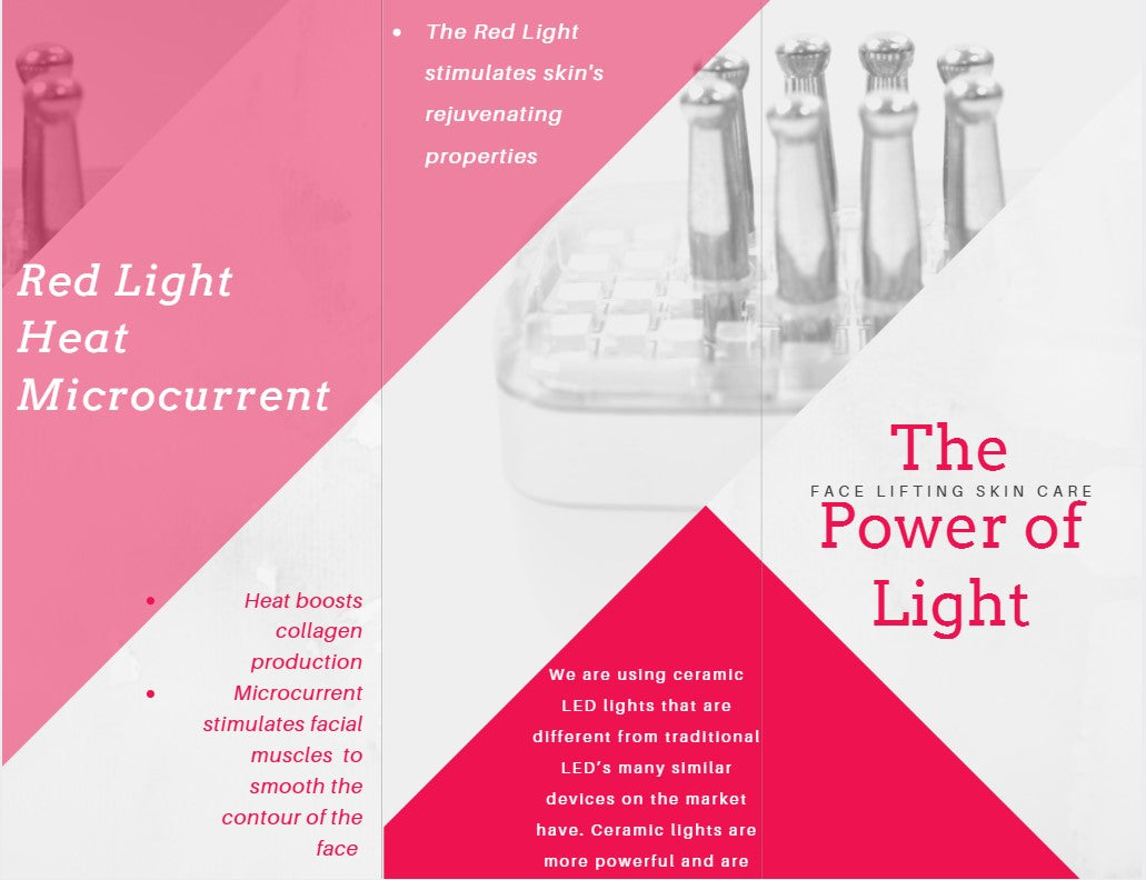 Microcurrent facelift at home with red light