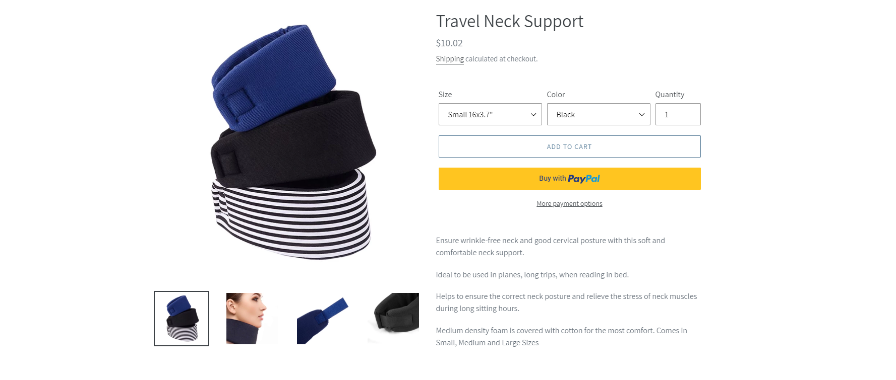 skin aging travel neck support
