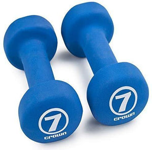 Set of 2 Soft Neoprene Coated Dumbbells - shopnewspa.com