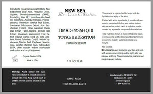 NEW SPA DMAE MSN Q10 Serum Total Hydration 20ml