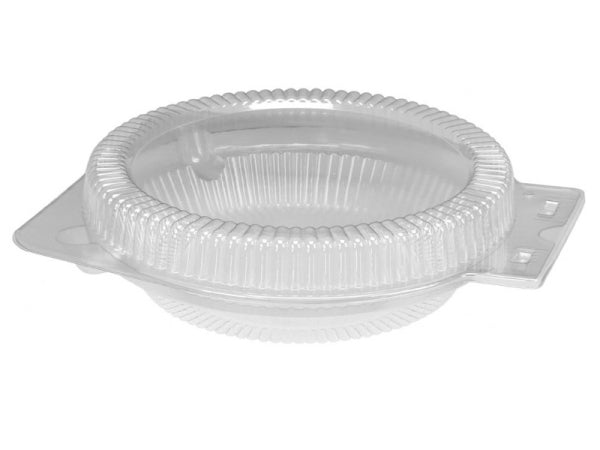"Clear Clamshell for 10"" Foil Pie Pan Plates"