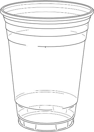16 oz. Clear Drinking Cup 1000/CS