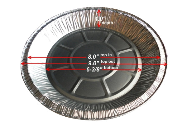 "9"" Foil Pie Pan 1"" Deep"
