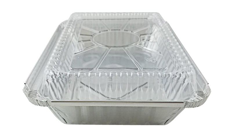 Handi-Foil 2 lb. Oblong Take-Out Foil Pan w/Dome Lid Combo 50/PK