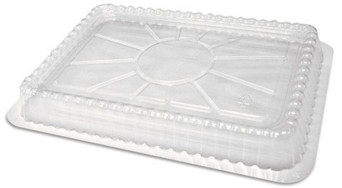 "8"" x 6"" Dome Lid for Oblong Take-Out Foil Pan 50/PK"
