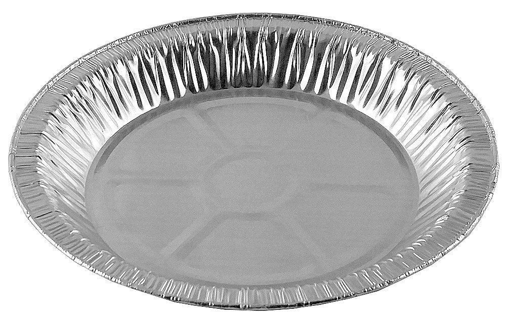 "Durable 9"" Foil Pie Pan 1 5/16"" Deep w/Clear Dome Lid 50/PK"