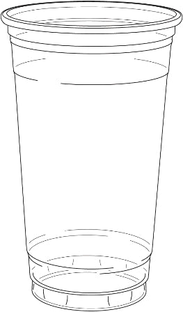 24oz Clear Drinking Cup