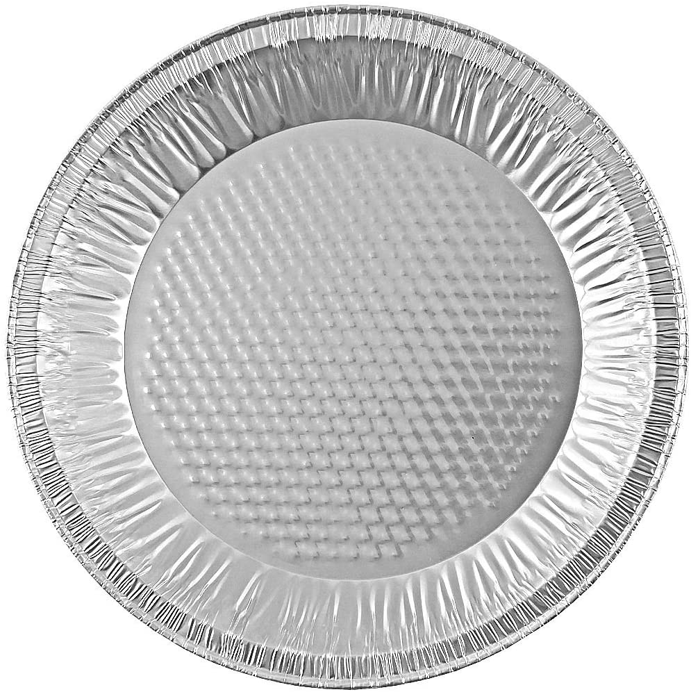 "Handi-Foil 10"" (Actual Top-Out 9-5/8 Inches - Top-In 8-3/4 Inches) Aluminum Foil Pie Pan 200/CS"